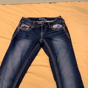 Amethyst straight leg/flare jeans